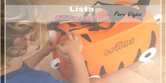 Lista Accesorios de Viaje con niños/as